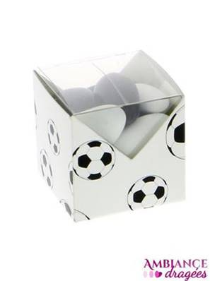 Contenant dragées cube football