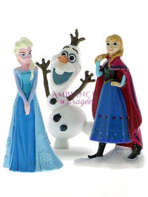 Lot de 3 Figurines Elsa, Anna, Olaf 10 cm
