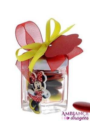 Pot confiture dragées Minnie